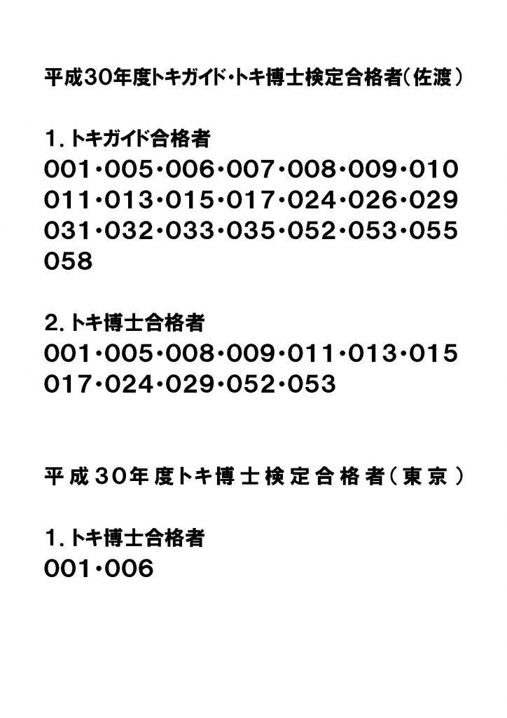 トキガイド・博士検定試験合格者_2018